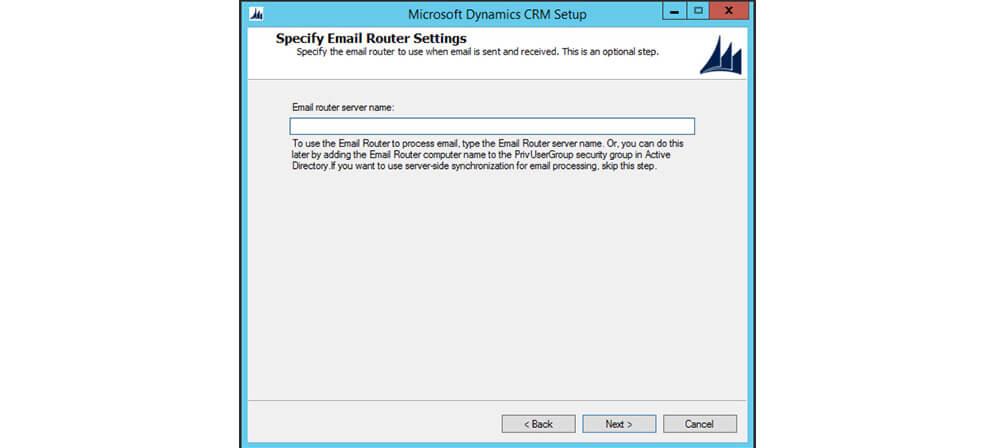 تنظیمات ایمیل روتر MSCRM