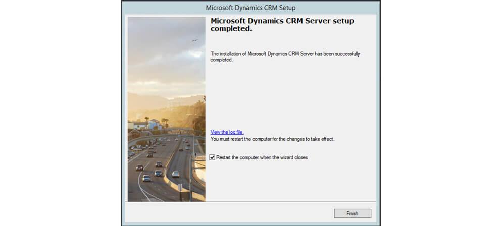 اتمام نصب مایکروسافت crm