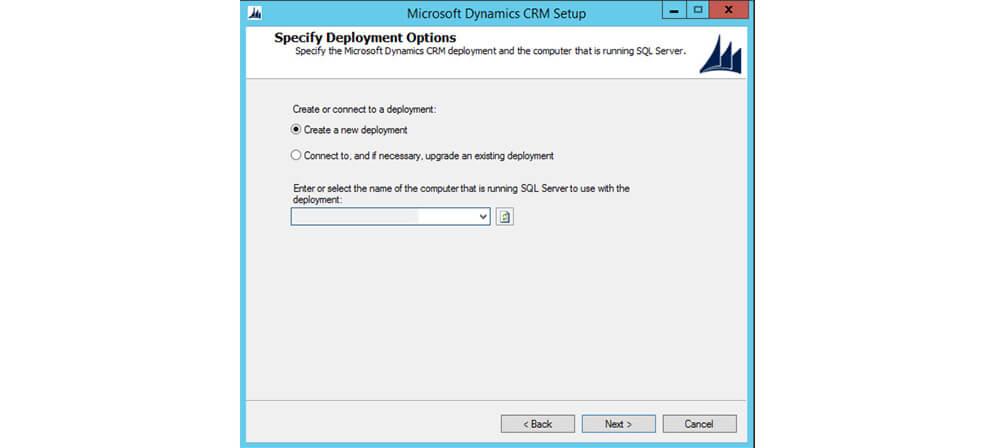 انتخاب deployment مایکروسافت داینامیک CRM