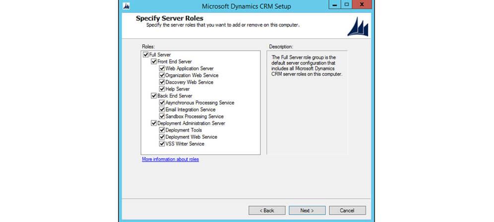 انتخاب خصوصیات مایکروسافت داینامیک CRM