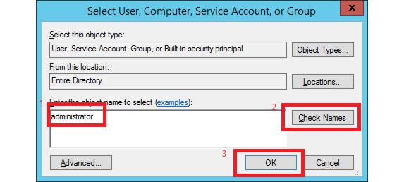 انتخاب user برای سرور sql