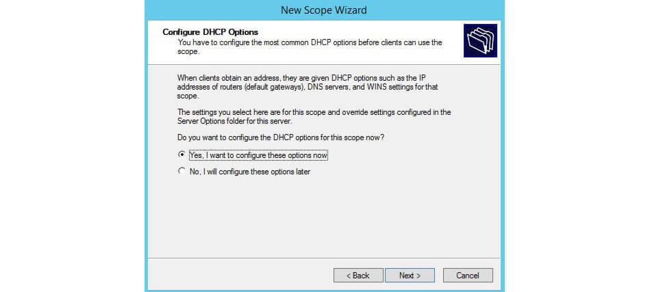 تنظیمات Configure DHCP