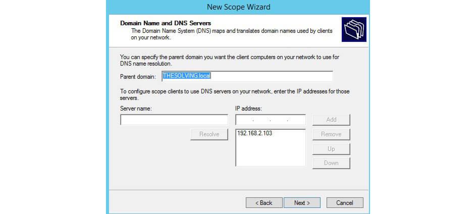 وارد کردن آی پی DNS