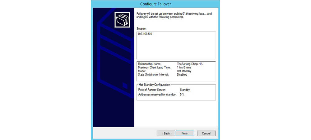 تنظیمات configure failover