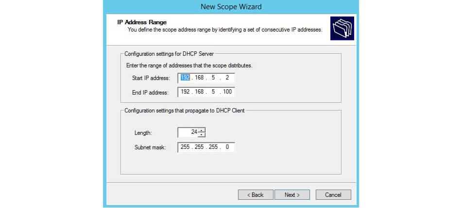رنج آی پی در DHCP