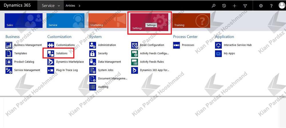 Solutions در مایکروسافت داینامیک CRM