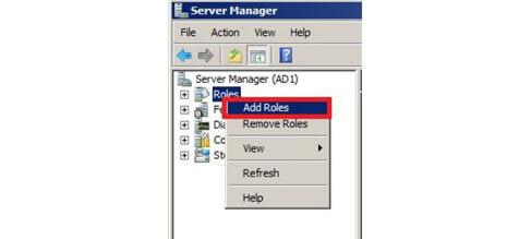 افزودن Role در Server Manager